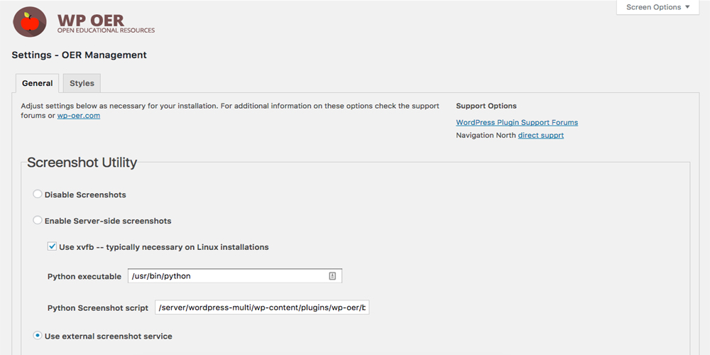 WP OER WordPress Plugin