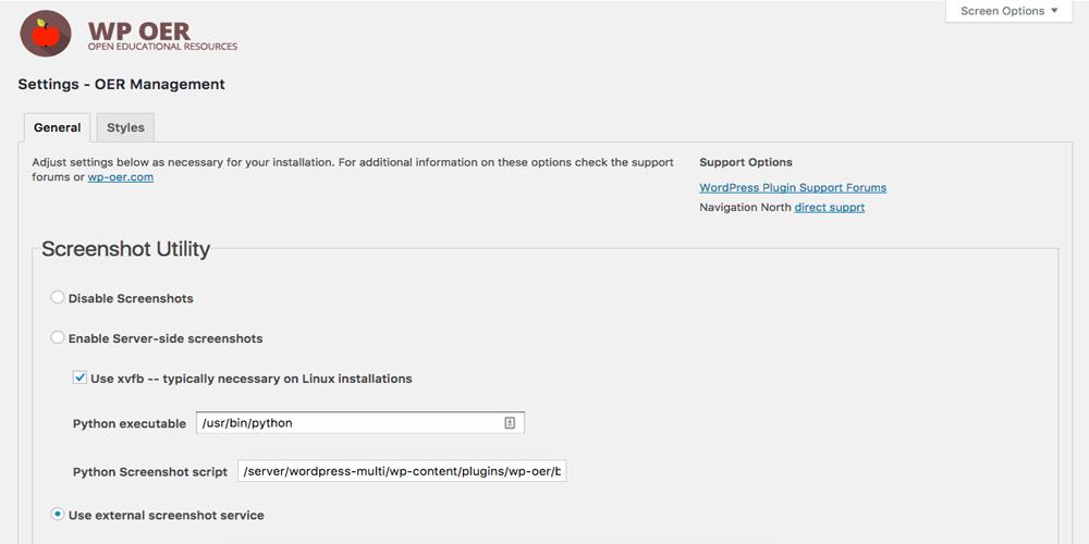 WP OER WordPress Plugin